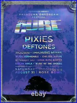 12 × THE CURE Pasadena Daydream Festival VIP Poster Concert Pixies Deftones 2019