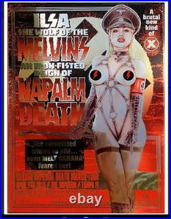 16 Melvins Tampa Ilsa She Wolf Ss Nazi Sexploitation Foil Concert Poster 4/9 S/n