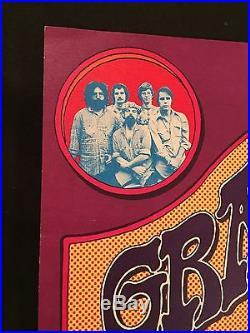 17X22 VINTAGE ORIGINAL HILL 1ST PRINTING Grateful Dead Fillmore Concert Poster