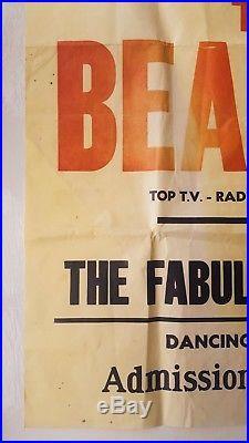 1963 THE BEATLES original concert poster (Town Hall Ballroom Abervagenny) Lennon