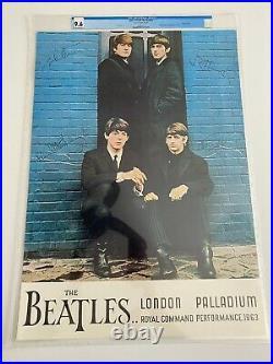 1964 The Beatles at London Palladium Concert Poster CGC 9.6 Low Pop
