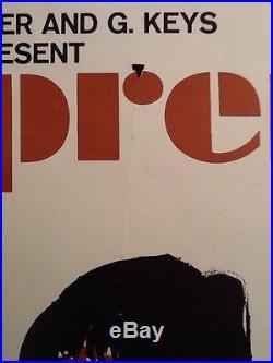 1965 The SUPREMES Lincoln Center Philharmonic NYC Concert Poster JOE EULA