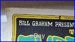 1966 rare The Turtles Bill Graham Fillmore SF rock & roll music concert poster