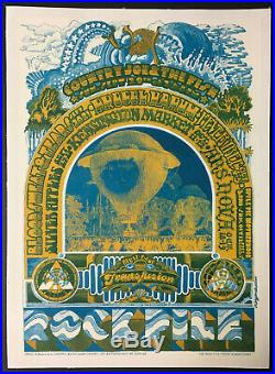 1968 1st Ever Rockpile Original Concert Poster Vtg Toronto Kensington Market