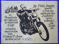 1968 Hells Angels Janis Joplin Carousel AOR 2.249 Concert Poster