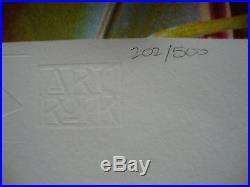 1969 Aor 3.185 Jimi Hendrix Concert Poster 202/500 Signed By Kieser Bg Fd