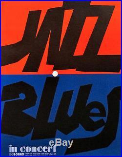 1970s ORIGINAL POSTER JAZZ BLUES CONCERT VITTORIO FIORUCCI