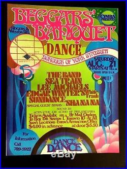 1971 Beggars' Banquet Original Concert Poster Toronto THE BAND EDGAR WINTER Rare