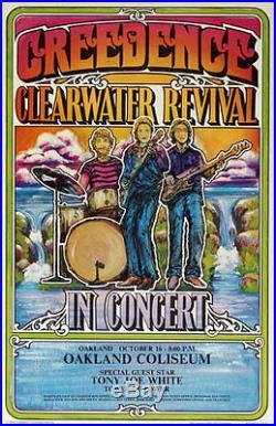 1971 CCR Tour Concert Poster (AOR 4.204) Creedence