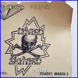1974 Lynyrd Skynyrd Memphis Concert Poster Rock Handbill Rare