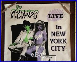 1980s The Cramps ORIGINAL CONCERT NYC poster