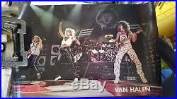 1982 Van Halen / David Lee Roth Concert Poster. Rare Original Van Halen Prod