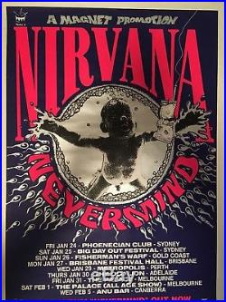 1992 Original Silkscreen Nirvana Australia Concert Tour ...