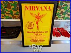 1993 Nirvana Akron Ohio ART Print Poster original concert tour poster 11x17 RARE