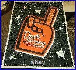 2005 Dave Matthews Band San Francisco Giants Foamfinger Concert Tour Poster 8/12