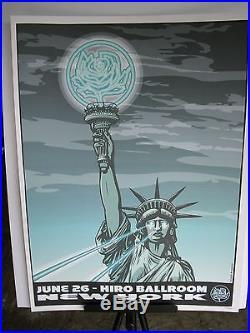 2007 Ryan Adams New York NY Hiro Ballroom Statue Liberty Concert Poster June 26