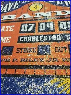 2008 Dave Matthews Band Charleston Concert Poster Methane Signed AP Mint RARE