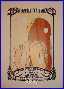 2008 Mars Volta & Raconteurs Torino Silkscreen Concert Poster by Malleus