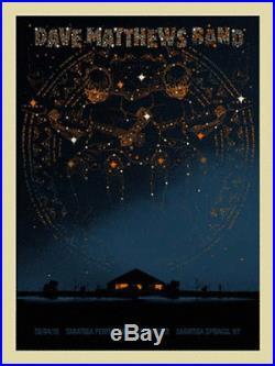 2010 Dave Matthews Band Saratoga Springs Zodiac Concert Poster 6/4 Spac #/625s/n