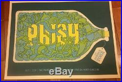 2010 PHISH RALEIGH MOONSHINE JUG CONCERT TOUR POSTER 7/1 Methane Studios AP