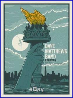 2011 Dave Matthews Band Randall's Island Caravan Torch Concert Poster 9/16 Bonus