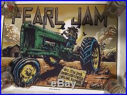 2014 Pearl Jam Moline Concert Poster
