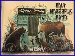 2016 Dave Matthews Band Elkhorn Alpine Photo Booth Concert Poster 7/1 #/1375 S/n