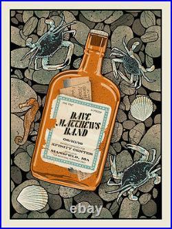 2016 Dave Matthews Band Mansfield Whiskey Bottle Concert Poster 6/10 #/885 S/n