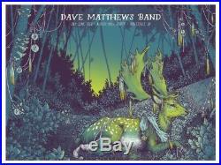 2016 Dave Matthews Band Noblesville Deer Concert Poster 6/22 Klipsch #/935