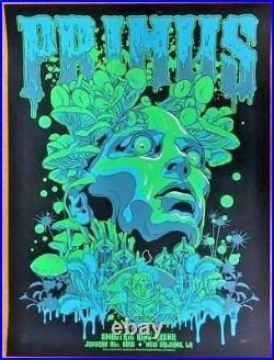 2016 Primus New Orleans Mushroom Head Concert Poster #/200 1/31 Vance Kelly S/n