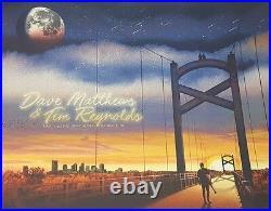 2017 Dave Matthews Tim Reynolds Nashville Bridge Concert Poster 5/6 #/660 Bonus