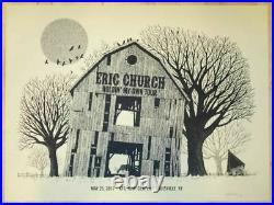 2017 Eric Church Louisville Barn Holdin' My Own Concert Poster 5/25 Kfc Signed