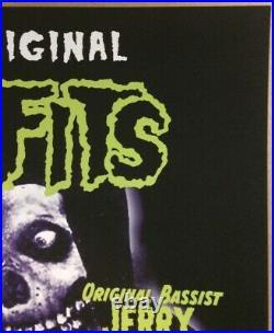 2019 Misfits Los Angeles Autographed By Glenn Danzig Concert Poster Fairey 7/29