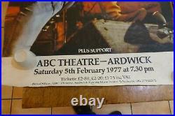 2x Original Vintage Jethro Tull Promo Concert Tour Posters Ardwick'77 Prog Rock