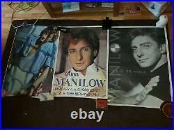 3 x RARE Vintage 1980s Original Barry Manilow Posters & Concert Posters Joblot