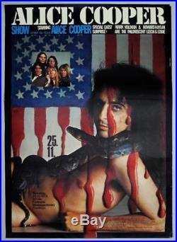 ALICE COOPER mega rare vintage original Frankfurt 1972 concert poster (Kieser)