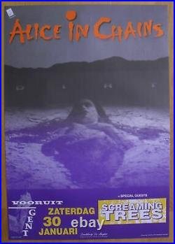 ALICE IN CHAINS original rare concert poster'93 screaming trees