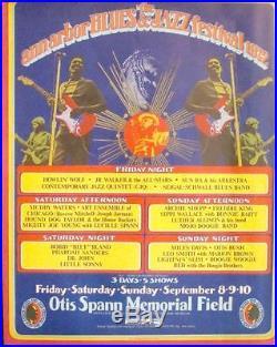 ANN ARBOR 1972 BLUES & JAZZ FESTIVAL concert program GARY GRIMSHAW MUDDY WATERS
