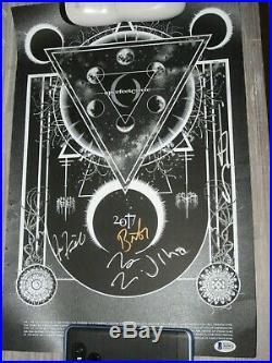 A Perfect Circle SIGNED Concert Poster BAS COA LOA Maynard James Keenan
