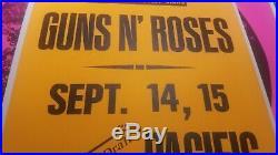 Aerosmith Guns N Roses Axl Rose Cardboard Original Boxing Style Concert Poster