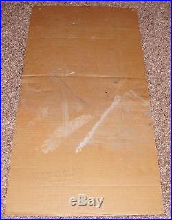 Afghan Whigs silkscreen 1992 concert poster cardboard Jeff Kleinsmith