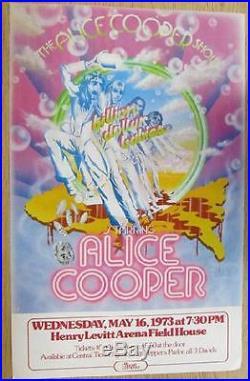 Alice Cooper Wichita Kansas 1973 Original Concert Poster Cardboard
