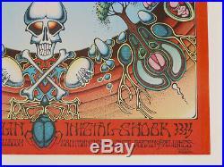 Aoxomoxca Grateful Dead 1969 Orig. 1st Concert Poster Signed Artist Rick Griffin