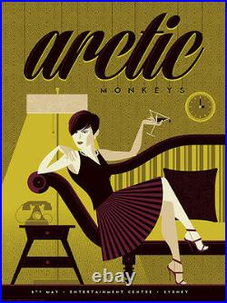 Arctic Monkeys Concert Poster Girl Tom Whalen AP Limited Edition of 12