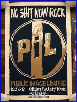 Artist Signed PiL Public Image Limited Concert Poster Reno 2012 Johnny Rotten