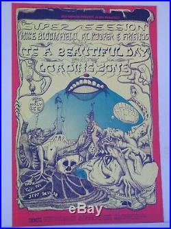 BG138-OP1 Mike Bloomfield Fillmore Concert Poster Bill Graham