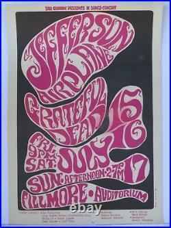 BG17-OP1 Grateful Dead Jefferson Airplane Concert Poster Bill Graham