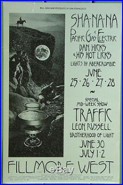 BG240 SHA-NA-NA Pacific Gas & Electric Fillmore West Original Concert POSTER 1st