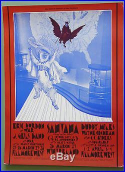 BG275 SANTANAEric Burdon1971 Fillmore West Original Concert Poster 1st
