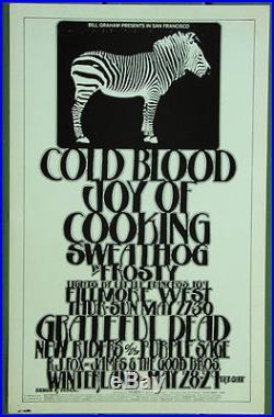BG282 Grateful Dead Cold Blood 1971 Fillmore West Original Concert Poster 1st Ed